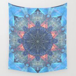 Dolphin Together Mandala Abstract Design Wall Tapestry