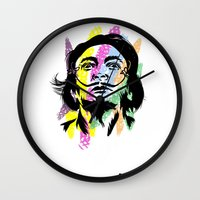 salvador dali Wall Clocks featuring Salvador Dali by Art of Fernie