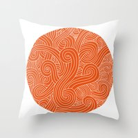 random Throw Pillows featuring random by muffa