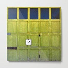 Garage Door Metal Print