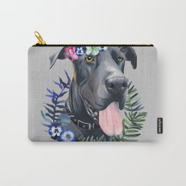 Flower power great Dane Carry-All Pouch