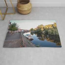 A view along the historical quayside along the River Wensum, Norwich Rug