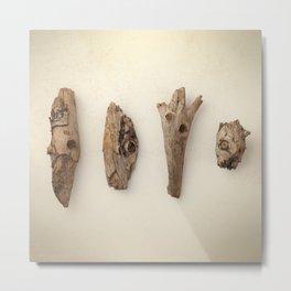 Wood pieces Metal Print