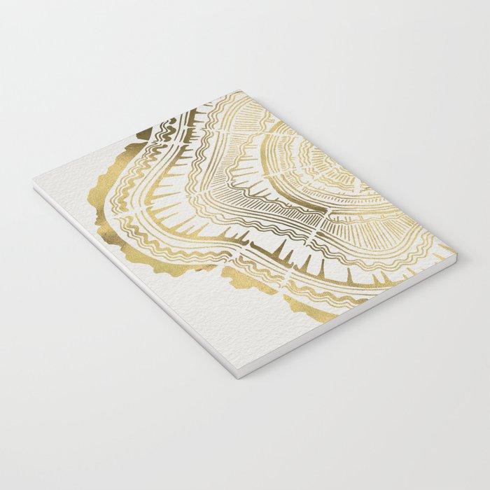 Gold Tree Rings Notebook