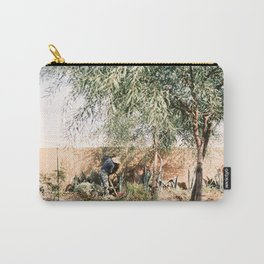 "Travel photography print ""Morocco Agafay Desert"". Warm colored. Wanderlust Art Print Carry-All Pouch"