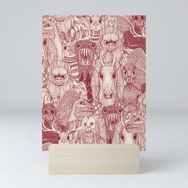cryptid crowd red pearl Mini Art Print