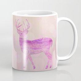 Dreamy Fairy Tale Pink Deer Bokeh Light Coffee Mug