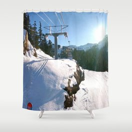 Mountains transport Shower Curtain