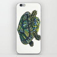 turtle iPhone & iPod Skins featuring Turtle by Aina Serratosa