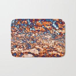 Distorted rainfall Bath Mat