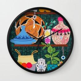 Moroccan shelf Wall Clock