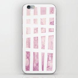 Pink watercolor iPhone Skin