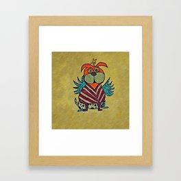 Harlie, the Angel Dog Framed Art Print