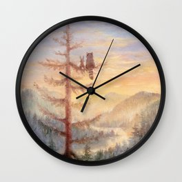 Isabella in the trees Wall Clock