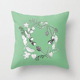 Forest Wreath Throw Pillow