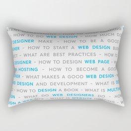 Blue Web Design Keywords Poster Concept Rectangular Pillow