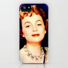 Olivia de Haviland, Vintage Actress iPhone Case
