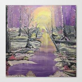 Warm winter beauty Canvas Print