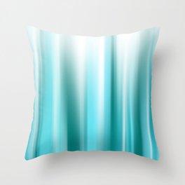 WARP SPEED   teal Throw Pillow