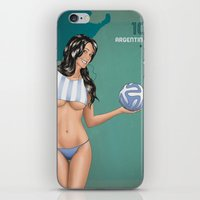 argentina iPhone & iPod Skins featuring Argentina by Kingdom Of Calm - Print On Demand