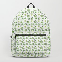 Marijuana leaf seamless pattern background with colorful circles Backpack