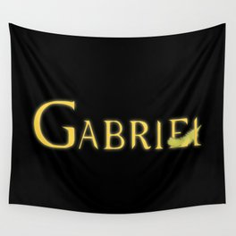 Gabriel with Feather Wall Tapestry