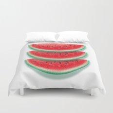 Slices of watermelon Duvet Cover