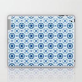 Chinoiseries Porcelain Tiles Blue Laptop & iPad Skin