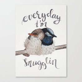 Bird no. 39: Snugglin' Canvas Print