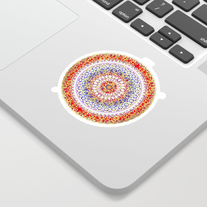 Violet Baroque Mandala Sticker