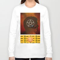 winchester Long Sleeve T-shirts featuring dean winchester by Papa-Paparazzi