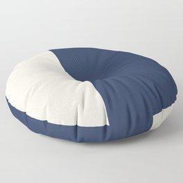 peach and navy stripes, minimalist, simple design, cool, chic, modern, elegant Floor Pillow