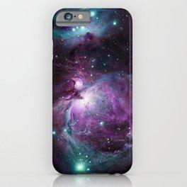 Orion Nebula Purple teal full iPhone Case