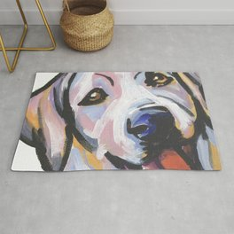 Yellow Lab Labrador Retriever Dog Portrait Pop Art painting by Lea Rug