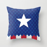 america Throw Pillows featuring America by gallant designs