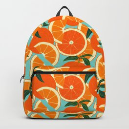 Orange Harvest - Blue Backpack