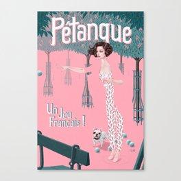 Pétanque Canvas Print