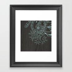 Tangle on dark wood Framed Art Print