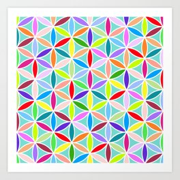 Flower of Life Large Pattern – Multicoloured Art Print