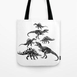 DINOSAURS ENGRAVING Tote Bag