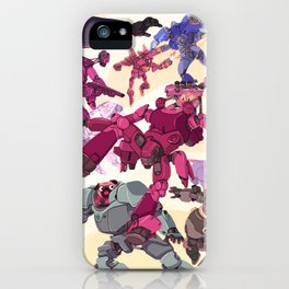 The Battle of Cats and Dogs iPhone Case