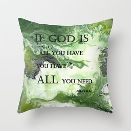 Abstract Acrylic Painting John 14:8, Blble Scripture Throw Pillow