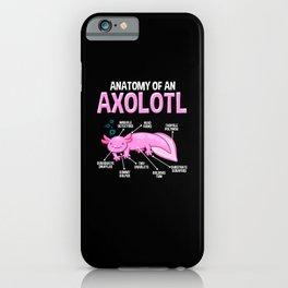 Funny Axolotl Anatomy Biology Cute Amphibian iPhone Case