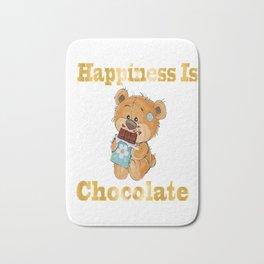 Happiness Is Chocolate Baby Bear Teddy Bear Gifts Bath Mat