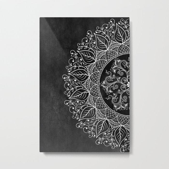 Mandaleaf - Black Metal Print