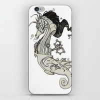 steam punk iPhone & iPod Skins featuring Steam Punk Horse  by FlyingFrogIllustration