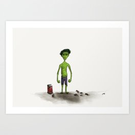 The Mildly Perturbed Hulk! Art Print