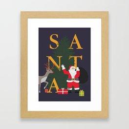 Santa Poster Framed Art Print