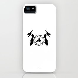 Norse Dragon - Triple Horn of Odin iPhone Case