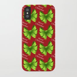 Merry Christmas Bows iPhone Case